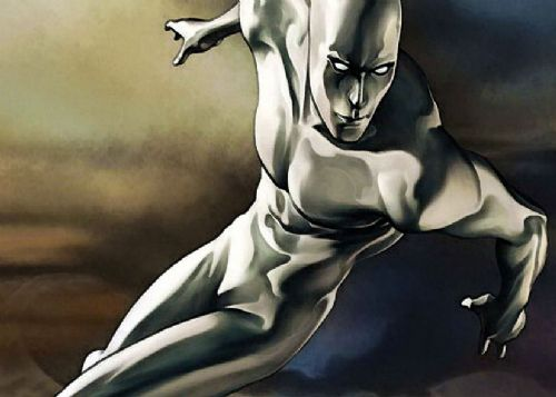 SILVER SURFER - PAINTED LANDSCAPE canvas print - self adhesive poster - photo print